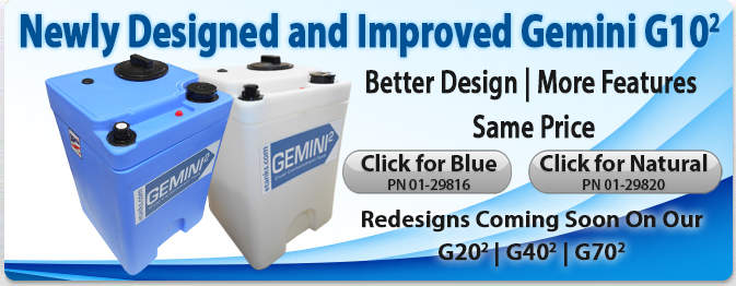 Gemini Square Plastic Tanks New 10 Gallon Redesign